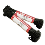 Glazed Sash Cord Size #8 1/4 in. x 100 ft. Black-CWC 124355
