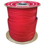 HTP Climbing Rope 7/16 in. x 600 ft. Red-CWC 349308