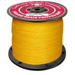 Hollow Braid Polypropylene Rope 1/4 in. x 100 ft. Yellow-CWC 100020
