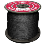 Hollow Braid Polypropylene Rope 1/4 in. x 1000 ft. Black-CWC 100306