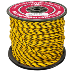 Hollow Braid Polypropylene Rope 1/4 in. x 1000 ft. Black & Yellow-CWC 100303