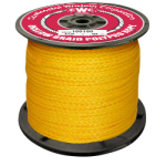 Hollow Braid Polypropylene Rope 3/16 in. x 500 ft. Yellow-CWC 100010