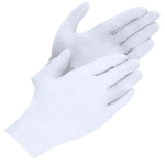Industrial Grade - 5 Mil White Gloves L-CWC 510280