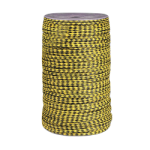 MFP Rope Braided Cord Size #8 1/4 in. x 1000 ft. Yellow w/blk tracer-CWC 108008