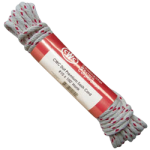 Poly-Cotton Sash Cord Size #12 3/8 in. x 100 ft. White w/red tracer-CWC 123025