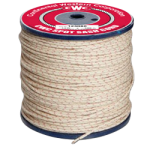 Poly-Cotton Sash Cord Size #12 3/8 in. x 1200 ft. White w/red tracer-CWC 123095