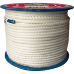 Polyester Rope 12-Strand 1/2 in. x 600 ft. White-CWC 353215