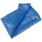Regular-Duty Tarp 10' x 10' Blue-CWC 070621