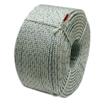 SILVER PACIFIC™ Floating Crab Rope 9/16 in. x 1200 ft. Silver W/Orange & Blue Tracers-CWC 415022
