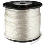 Solid Braid Nylon Rope 1/4 in. x 200 ft. White-CWC 105145