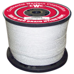Solid Braid Nylon Rope 3/8 in. x 125 ft. White-CWC 108088