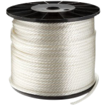 Solid Braid Nylon Rope 3/8 in. x 500 ft. White-CWC 105115