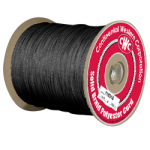 Solid Braid Polyester Rope 5/32 in. x 500 ft. Black-CWC 110115