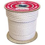 Spun Braid Polyester Rope 1/2 in. x 600 ft. White-CWC 216043
