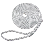 Twisted Dock Line Nylon Rope 3/8 in. x 15 ft. White-CWC 317011