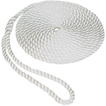Twisted Dock Line Nylon Rope 3/8 in. x 25 ft. White-CWC 317021