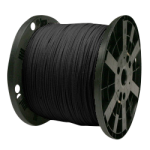 Venetian Blind Cord 9/64 in. x 3000 ft. Black-CWC 160041