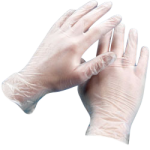 Vinyl Disposable Gloves Industrial Grade - 3 Mil Clear Gloves S-CWC 510276