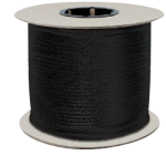 Zenith Diamond Braid Rope 1/8 in. x 1000 ft. Black-CWC 110402