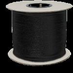 Zenith Diamond Braid Rope 1/8 in. x 500 ft. Black-CWC 110401