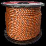 BLUE STEEL™ Rope 5/8 in. x 600 ft. Orange W/Dark Blue Tracer-CWC 402083