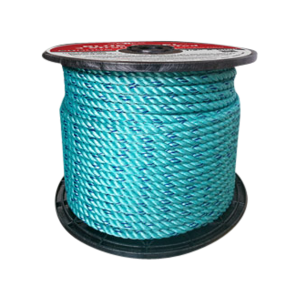 BLUE STEEL™ Rope 3/8 in. x 600 ft. Teal W/Dark Blue Tracer-CWC 402040