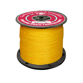 Hollow Braid Polypropylene Rope 5/16 in. x 1000 ft. Yellow-CWC