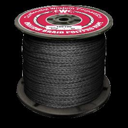 "1//4/"" x 1320 ft. Green CWC Hollow Braid Polypropylene Rope"
