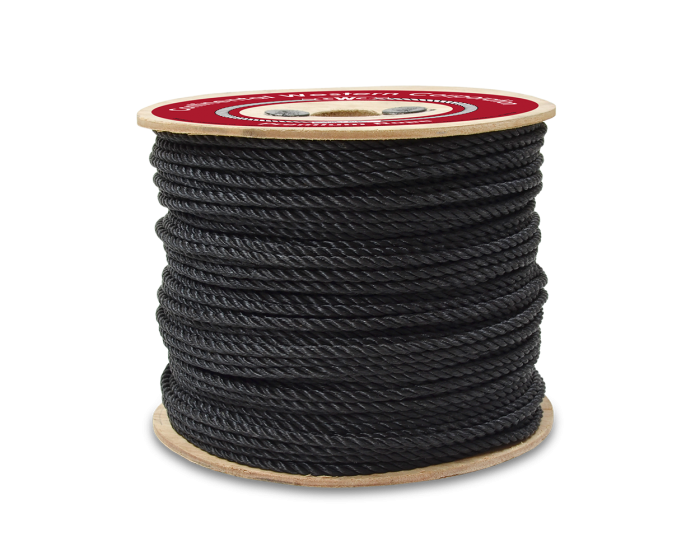 """1//4/"""" 500 ft Bungee Shock Cord Polyester Black Heavy Duty Shock Rope"""