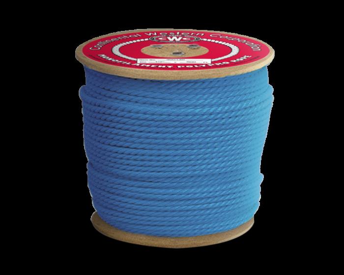 CWC 3-Strand Polypropylene Rope 3//8 x 600 ft. Black