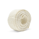 3-Strand Nylon Rope 1/4 in. x 100 ft. White-CWC 151010