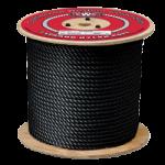 3-Strand Nylon Rope 1/4 in. x 600 ft. Black-CWC 316203