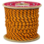 3-Strand Polypropylene Rope 1/4 in. x 1200 ft. Orange & Black-CWC 301017