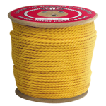 3-Strand Polypropylene Rope 1/4 in. x 250 ft. Yellow-CWC 300030