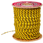 3-Strand Polypropylene Rope 1/4 in. x 600 ft. Yellow & Black-CWC 301010
