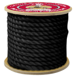 3-Strand Polypropylene Rope 3/4 in. x 600 ft. Black-CWC 301100