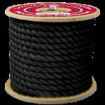 3-Strand Polypropylene Rope 7/8 in. x 600 ft. Black-CWC 301103
