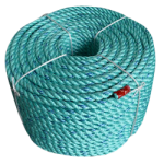 BLUE STEEL™ Rope 1-1/8 in. x 600 ft. Teal W/Dark Blue Tracer-CWC 402120