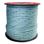 BLUE STEEL™ Rope 12-Strand 3/8 in. x 600 ft. Teal W/Dark Blue Tracer-CWC 353300