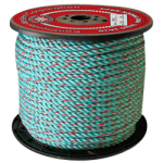 BLUE STEEL™ Rope 3/8 in. x 2500 ft. Teal W/Red Tracer-CWC 402043