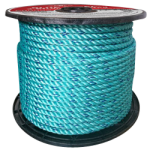 BLUE STEEL™ Rope 9/16 in. x 600 ft. Teal W/Dark Blue Tracer-CWC 402080