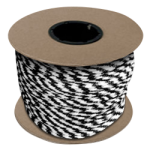 Braided MFP Halter Rope 27/64 in. x 300 ft. Black & White-CWC 115340