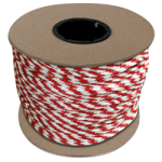 Braided MFP Halter Rope 27/64 in. x 300 ft. Red & White-CWC 115343