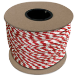 Braided MFP Halter Rope 27/64 in. x 500 ft. Red & White-CWC 115326