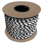 Braided MFP Halter Rope 3/8 in. x 500 ft. Black & White-CWC 115330