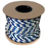 Braided MFP Halter Rope 5/8 in. x 200 ft. Blue & White-CWC 115450