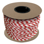 Braided MFP Halter Rope 5/8 in. x 200 ft. Red & White-CWC 115460