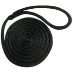Double Braid Dock Line 1/2 in. x 20 ft. Black-CWC 350209