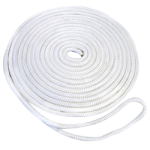 Double Braid Dock Line 1/2 in. x 20 ft. White-CWC 350626