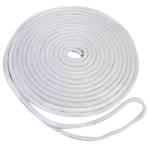 Double Braid Dock Line 3/8 in. x 25 ft. White-CWC 350616